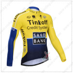 2014 Team SAXO BANK Cycling Long Jersey Yellow Blue