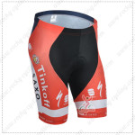 2014 Team SAXO BANK Cycling Shorts Red