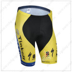 2014 Team SAXO BANK Cycling Shorts Yellow Blue