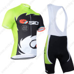 2014 Team SIDI Pro Cycling Bib Kit Green Black