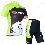2014 Team SIDI Pro Cycling Kit Green Black