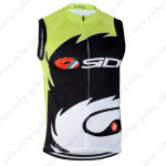 2014 Team SIDI Pro Cycling Sleeveless Jersey Vest Green Black