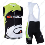 2014 Team SIDI Pro Cycling Vest Bib Kit Green Black