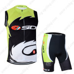 2014 Team SIDI Pro Cycling Vest Kit Green Black