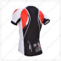 2014 Team Santini Bicycle Jersey Black Red