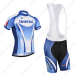 2014 Team Santini Cycling Bib Kit Blue