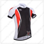 2014 Team Santini Cycling Jersey Black Red