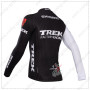 2014 Team TREK Biking Long Jersey Black White