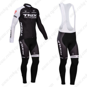 2014 Team TREK Cycling Long Bib Kit Black White