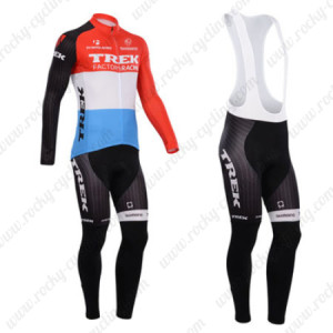 2014 Team TREK Cycling Long Bib Kit Red Blue