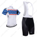 2015 Team ASSOS Cycling Bib Kit White Blue