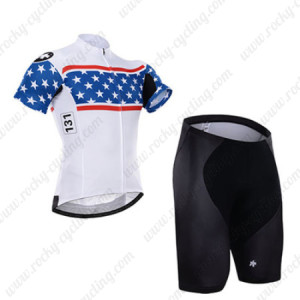 2015 Team ASSOS Cycling Kit White Blue
