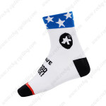 2015 Team ASSOS Cycling Socks White Black Blue