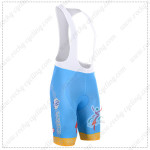2015 Team ASTANA Cycling Bib Shorts Blue