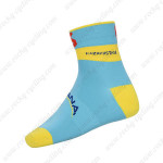 2015 Team ASTANA Cycling Socks Blue Yellow