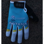2015 Team ASTANA Winter Cycling Thermal Fleece Gloves Blue White