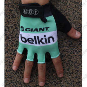 2015 Team Belkin Cycling Gloves Mitts Green