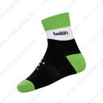 2015 Team Belkin Cycling Socks Black Green