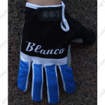 2015 Team Blanco Winter Cycling Thermal Fleece Gloves Black Blue