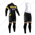 2015 Team COLOMBIA Cycling Long Bib Kit Black