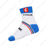 2015 Team CUBE SHIMANO Cycling Socks White Blue