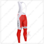 2015 Team Cofidis Cycling Bib Pants Tights Red White