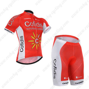 2015 Team Cofidis Cycling Kit Red White
