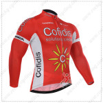 2015 Team Cofidis Cycling Long Jersey Red White