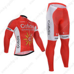2015 Team Cofidis Cycling Long Kit Red White