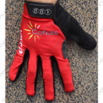2015 Team Cofidis Winter Cycling Thermal Fleece Gloves Red