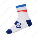 2015 Team FDJ Cycling Socks White Blue