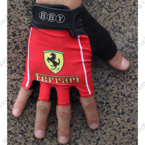 2015 Team FERRARI Cycling Gloves Mitts Red