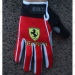 2015 Team Ferrari Winter Cycling Thermal Fleece Gloves Red