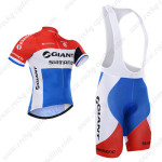 2015 Team GIANT SHIMANO Cycling Bib Kit Red Blue