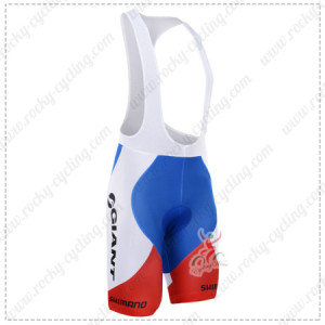 2015 Team GIANT SHIMANO Cycling Bib Shorts Red Blue