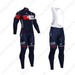 2015 Team IAM SCOTT Cycling Long Bib Kit Blue
