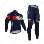 2015 Team IAM SCOTT Cycling Long Kit Blue