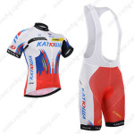 2015 Team KATUSHA Cycling Bib Kit White Red