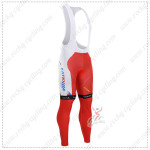2015 Team KATUSHA Cycling Bib Pants White Red