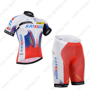 2015 Team KATUSHA Cycling Kit White Red
