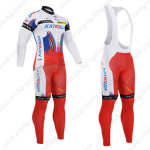 2015 Team KATUSHA Cycling Long Bib Kit White Red2015 Team KATUSHA Cycling Long Bib Kit White Red