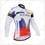 2015 Team KATUSHA Cycling Long Jersey White Red2015 Team KATUSHA Cycling Long Jersey White Red