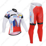 2015 Team KATUSHA Cycling Long Kit White Red