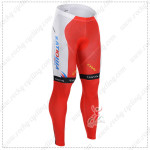 2015 Team KATUSHA Cycling Pants White Red