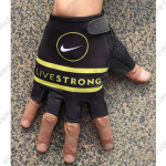 2015 Team LIVESTRONG Cycling Gloves Mitts Black