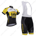 2015 Team LOTTO JUMBO Cycling Bib Kit Yellow Black