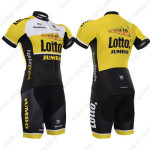 2015 Team LOTTO JUMBO Cycling Kit Yellow Black