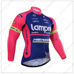 2015 Team Lampre MERIDA Cycling Long Sleeves Jersey maillot cycliste