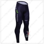 2015 Team Movistar Cycling Long Pants Blue