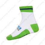 2015 Team ORICA GreenEDGE Cycling Socks White Green